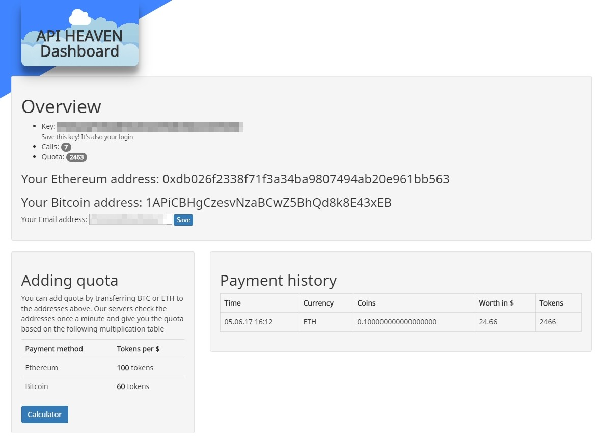 Accepting Ethereum payments without external services